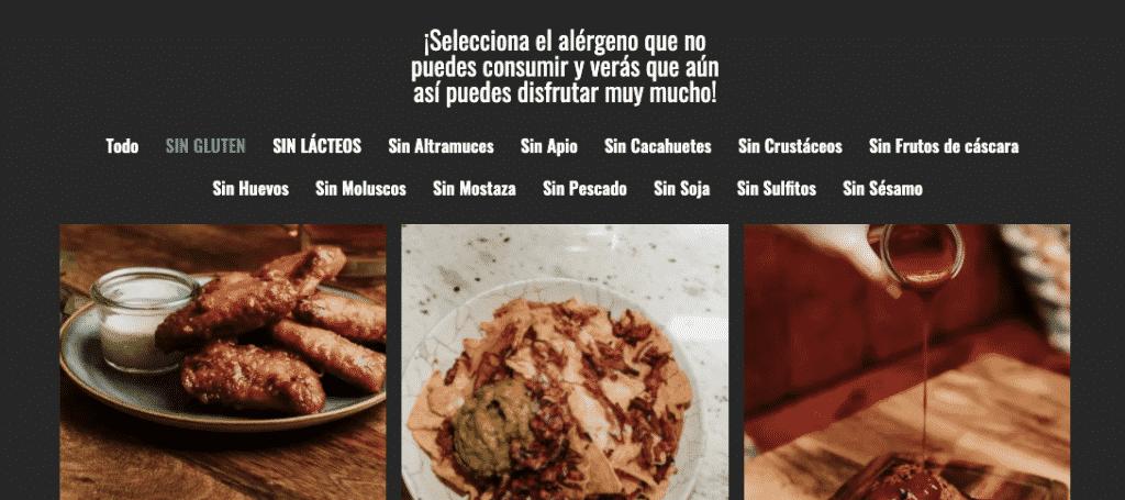 selección alérgenos